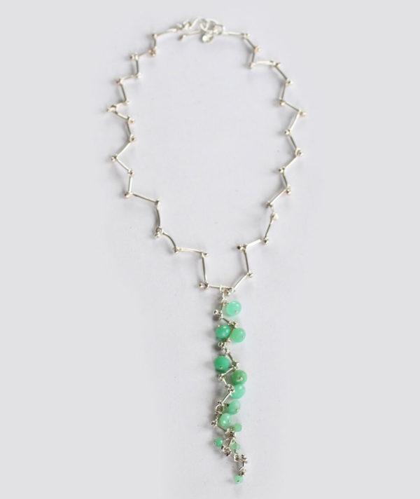 handmade silver gemstone necklaces