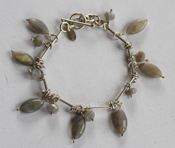 silver gemstone handmade necklaces