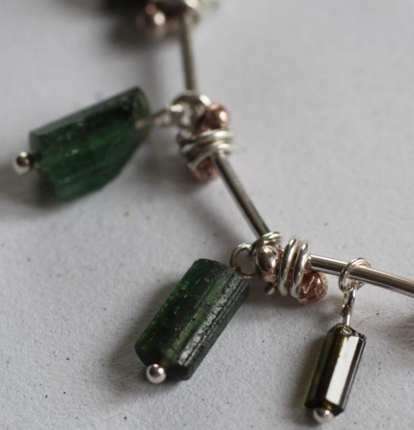 gemstone silver necklaces