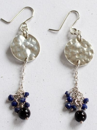 costume silver gemstone earrings