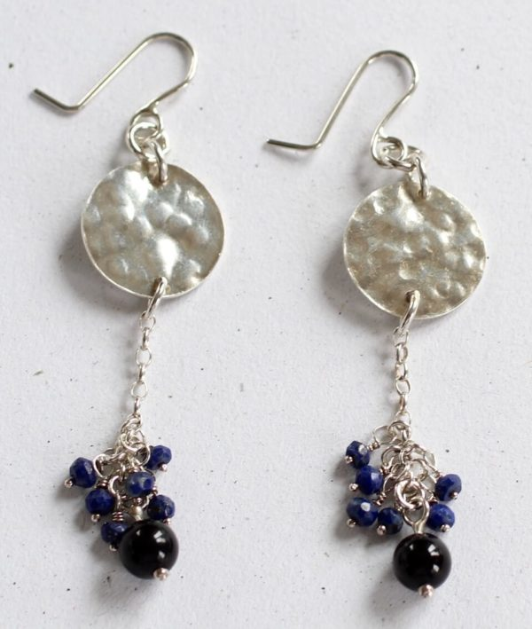 costume silver gemstone earrings