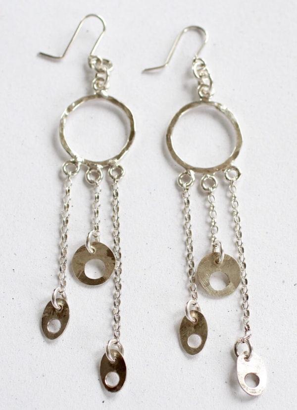silver handmade costume earrings