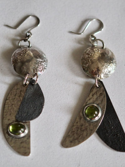 handmade silver costume earrings